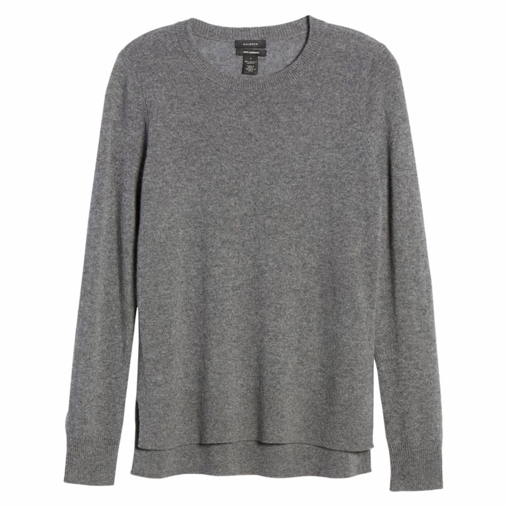 Halogen- Crewneck-Cashmere-Sweater